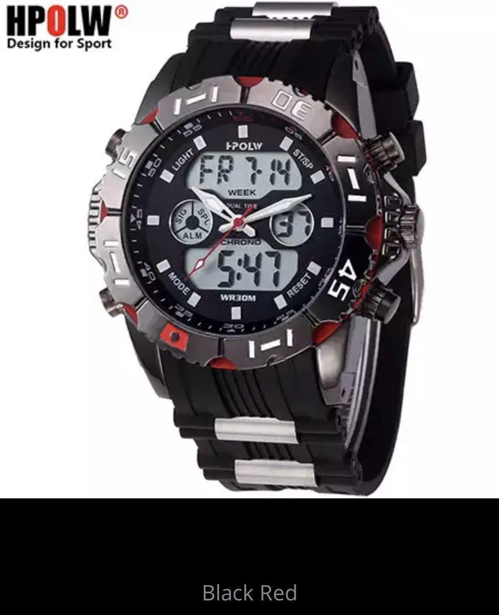LDL719#海外メーカー アナログメンズ&デジタル メンズスポーツ クオーツ 腕時計クォーツ アナデジ LED 防水 スポーツウォッチ_画像2