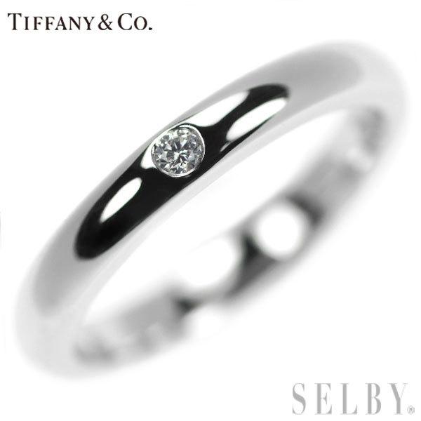 1円~ ティファニー Pt950 ダイヤモンド リング SELBY