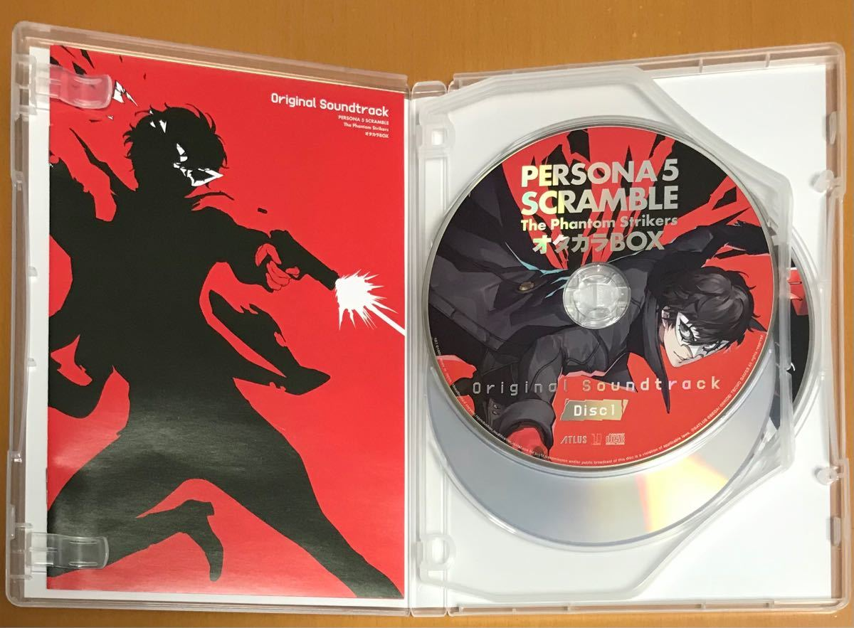 送料無料 ペルソナ5 スクランブル ザファントムストライカーズ サウンドトラックCD&BD主題歌メイキングムービー Blu-ray