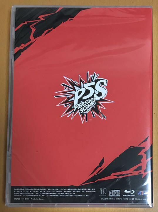 送料無料 ペルソナ5 スクランブル ザファントム ストライカーズ サウンドトラック CD&BD 主題歌メイキングムービー Blu-ray Disc サントラ