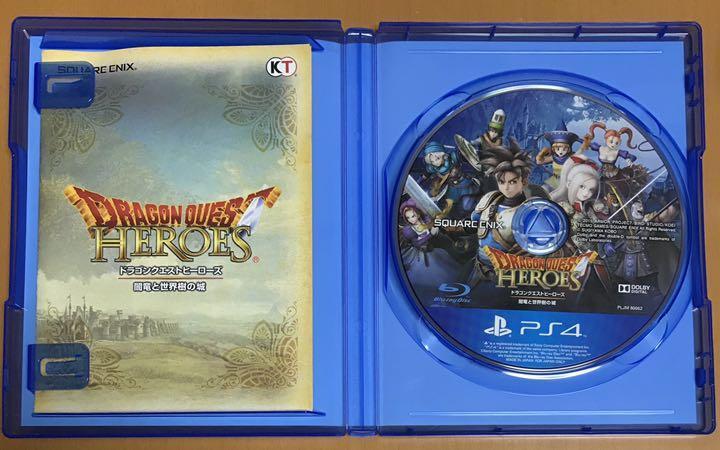 特典付 送料無料 PS4 ドラゴンクエストヒーローズ 闇竜と世界樹の城 ドラゴンクエストヒーローズ ドラクエ 即決 動作確認済 匿名配送