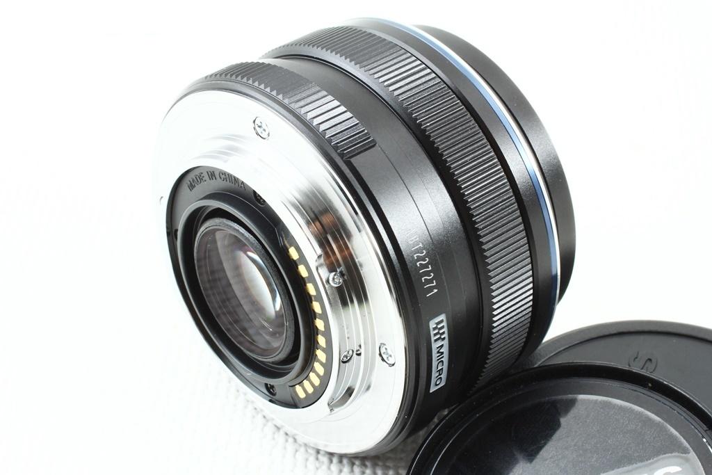 極上品◆OLYMPUS オリンパス M.ZUIKO DIGITAL 17mm F1.8 ブラック◆単焦点レンズ,マイクロフォーサーズ/a-8119_マウント側も同様に綺麗な状態です!