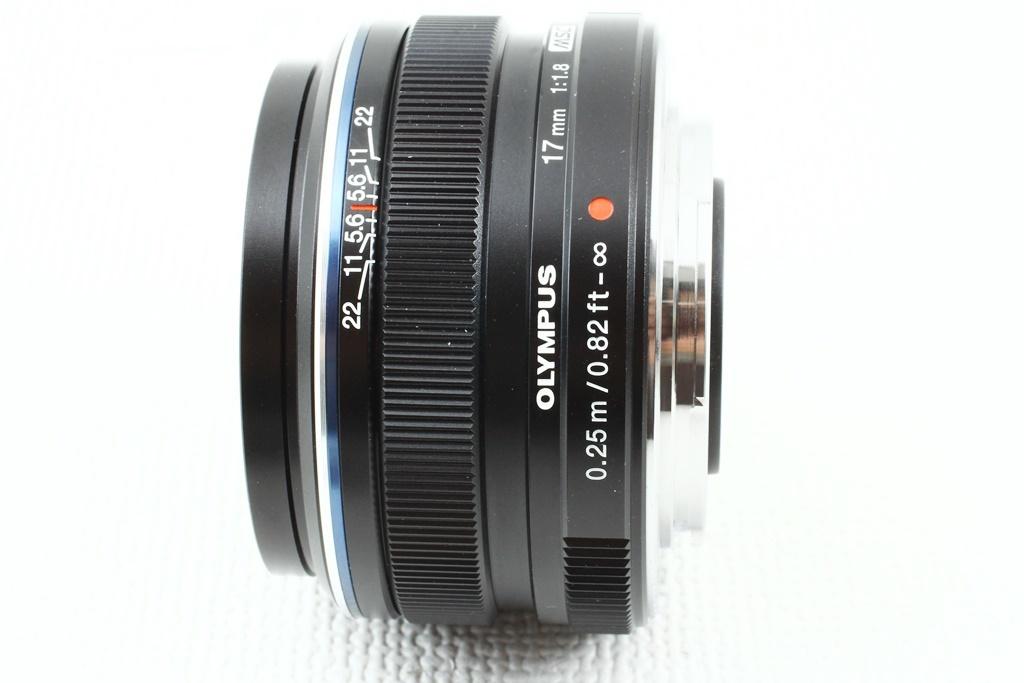 極上品◆OLYMPUS オリンパス M.ZUIKO DIGITAL 17mm F1.8 ブラック◆単焦点レンズ,マイクロフォーサーズ/a-8119_画像4