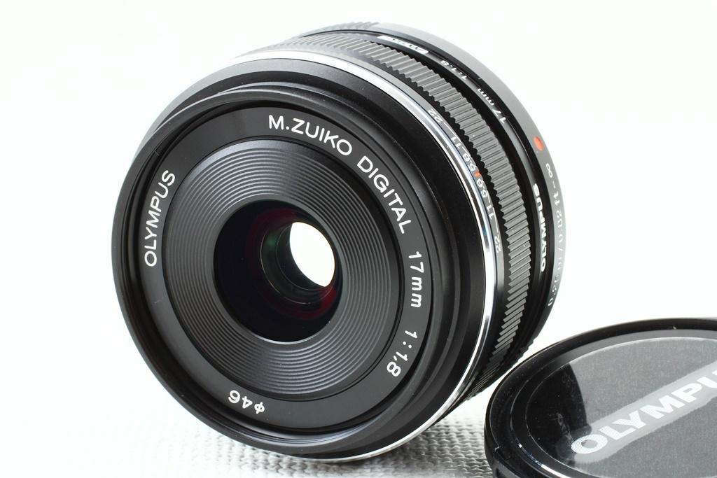 極上品◆OLYMPUS オリンパス M.ZUIKO DIGITAL 17mm F1.8 ブラック◆単焦点レンズ,マイクロフォーサーズ/a-8119_外観、光学系共に極上品コンディション!