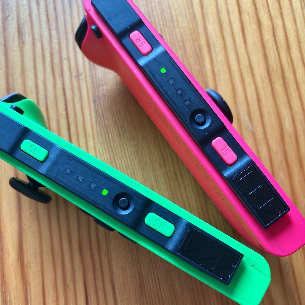 Switch ジョイコン ネオングリーン×ネオンピンクスプラカラー ニンテンドー