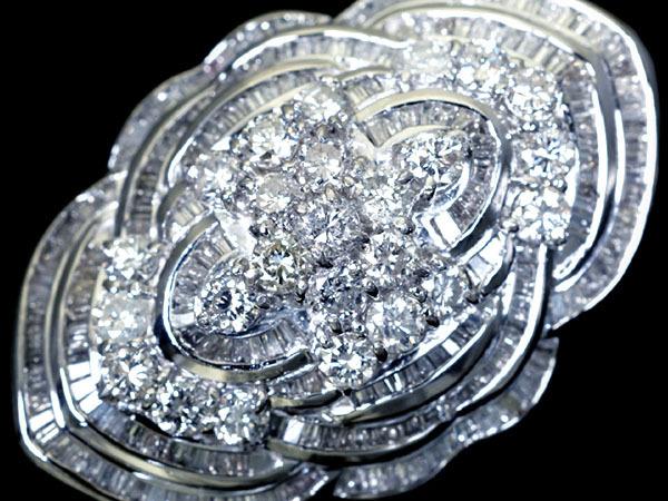 1円~【ジュエリー極】超極上品!上質天然ダイヤモンド総計9.50ct! 超高級Pt999フルエタニティデザインリング h3965vx【送料無料】