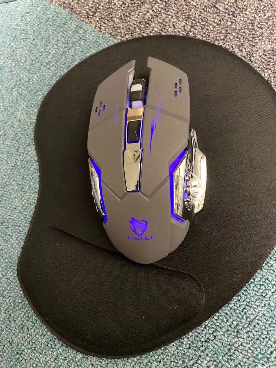 マウス ワイヤレスマウス 無線 超静音 バッテリー内蔵
