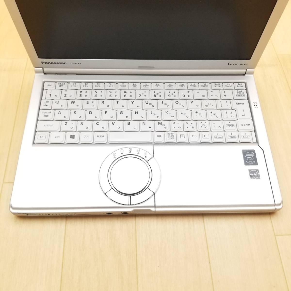 ★2015年モデル・美品★高性能第5世代i5(ターボ)搭載/HDD320GB/メモリ8GB/Wi-Fi/Webカメラ/最新Office搭載/Win10/Let'snote CF-NX4(C7010)_★キーボードやパームレストも綺麗です★