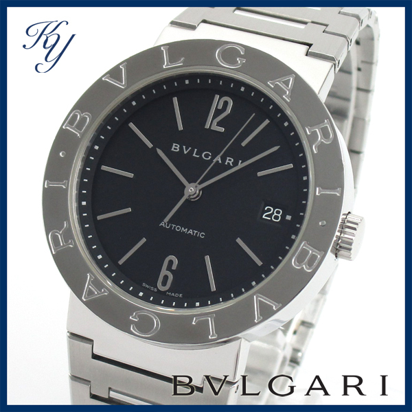 1円~ 3ヶ月保証付き 磨き済み 美品 本物 人気 BVLGARI ブルガリ BB38 SS AUTO 自動巻き メンズ 時計