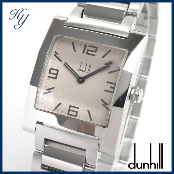 1円~ 3ヶ月保証付き 磨き済み 美品 本物 人気 DUNHILL ダンヒル ファセット スクエア 8022 メンズ 時計