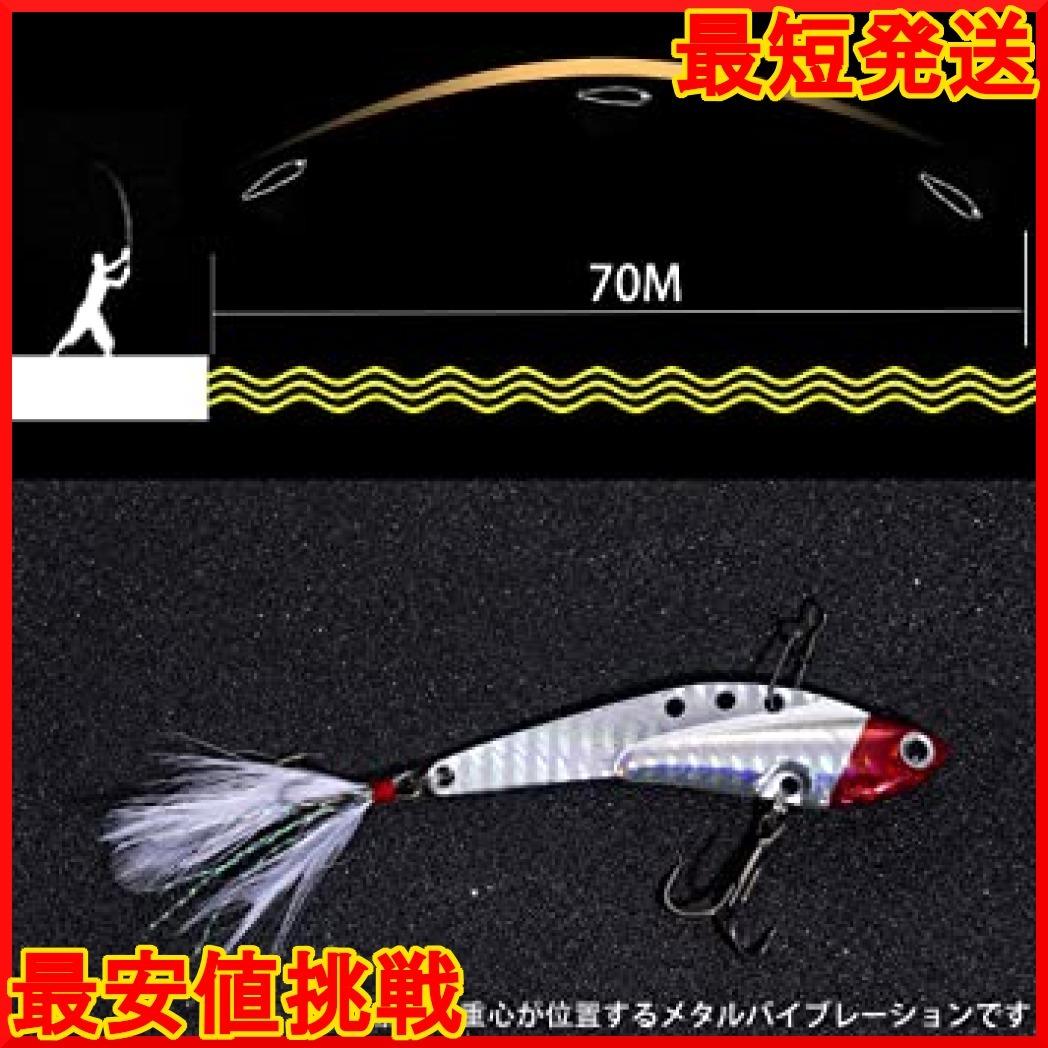 18g5個セット メタルジグ ルアー メタルバイブレーション ハードルアー 遠投 バス釣り 海釣り シーバス 太刀魚 ヒラメ 青_画像4