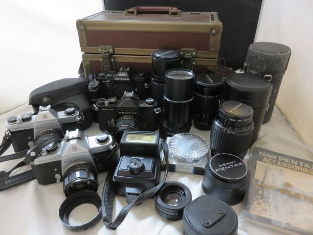 17☆ペンタックス SP 55mm/SP F/SUPER A/1:4 70-210/1:4 200/35-105/2.8 100mm ジャンク扱 カメラ レンズ 1円~