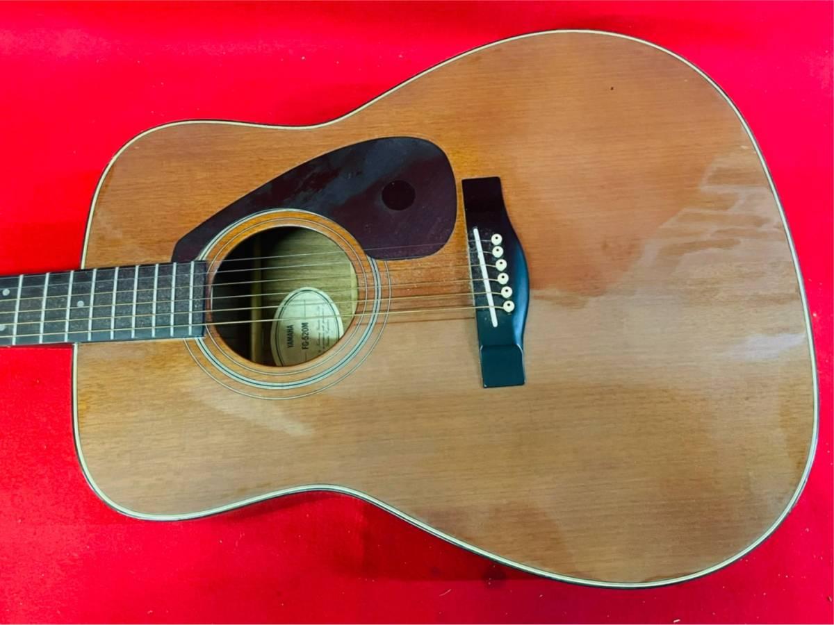 L-3707⑳: YAMAHA/ヤマハ FG-520M アコースティックギター 弦楽器 ソフトケース付 ジャンク品_画像5