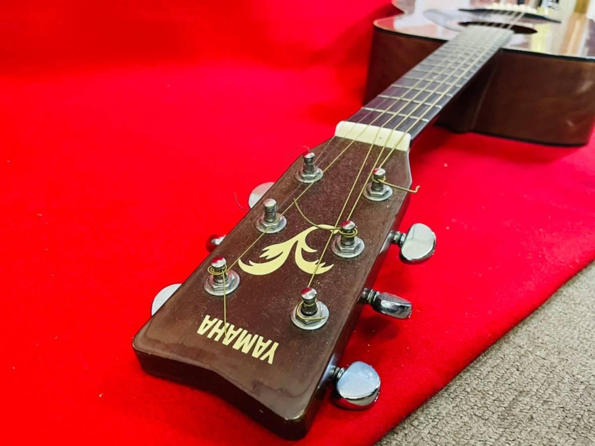 L-3707⑳: YAMAHA/ヤマハ FG-520M アコースティックギター 弦楽器 ソフトケース付 ジャンク品_画像7