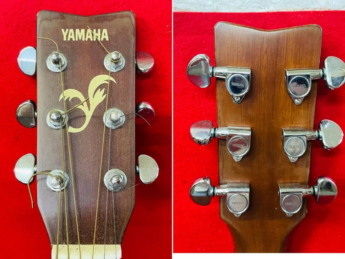 L-3707⑳: YAMAHA/ヤマハ FG-520M アコースティックギター 弦楽器 ソフトケース付 ジャンク品_画像4