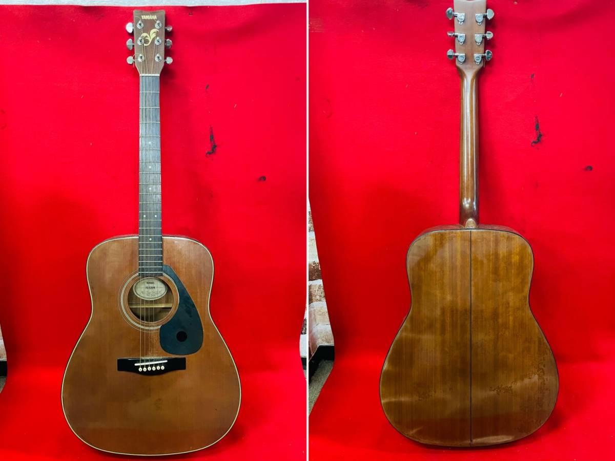 L-3707⑳: YAMAHA/ヤマハ FG-520M アコースティックギター 弦楽器 ソフトケース付 ジャンク品_画像3