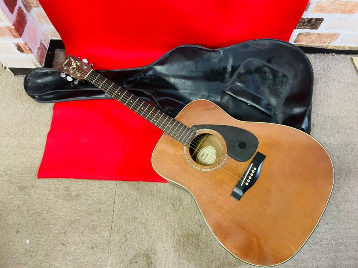 L-3707⑳: YAMAHA/ヤマハ FG-520M アコースティックギター 弦楽器 ソフトケース付 ジャンク品_画像1
