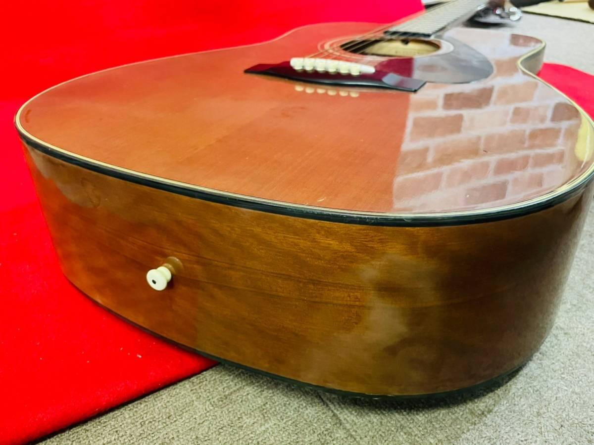 L-3707⑳: YAMAHA/ヤマハ FG-520M アコースティックギター 弦楽器 ソフトケース付 ジャンク品_画像8