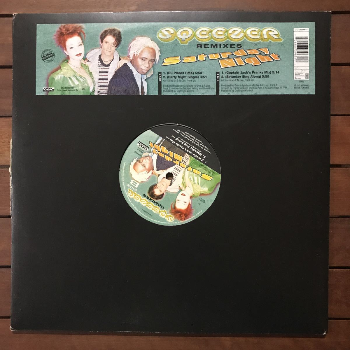 ●【r&b】Sqeezer / Saturday Night (Remixes)[12inch]オリジナル盤《3-2-90 9595》