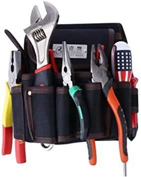 ブラック1 工具差し 電工道具袋 weijiekk ツールバッグ 工具入れ ウエストバッグ 腰袋 収納 電工袋 作業 工具袋 道_画像5