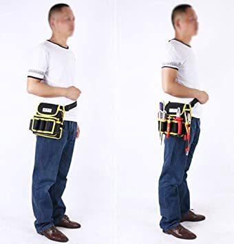 ブラック1 工具差し 電工道具袋 weijiekk ツールバッグ 工具入れ ウエストバッグ 腰袋 収納 電工袋 作業 工具袋 道_画像6