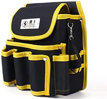 ブラック1 工具差し 電工道具袋 weijiekk ツールバッグ 工具入れ ウエストバッグ 腰袋 収納 電工袋 作業 工具袋 道_画像1