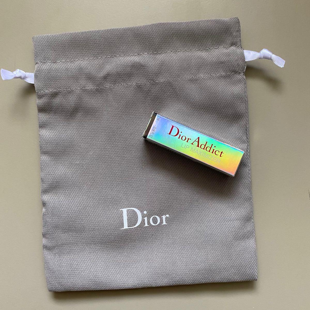 Dior ディオールアディクトリップ マキシマイザー ミニ サンプル  リップグロス 巾着 国内正規品 2ml