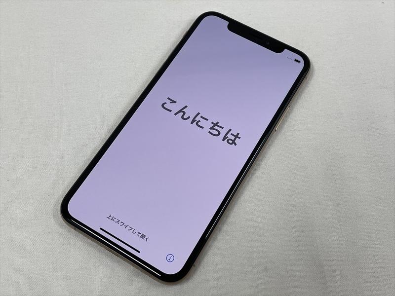 極美品 docomo(SIMロック解除済み) iPhoneXs 256GB ゴールド MTE22J/A 判定〇 バッテリー最大容量100% SIMフリー 21064_画像1
