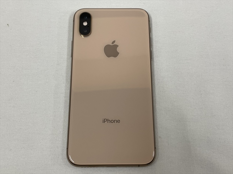 極美品 docomo(SIMロック解除済み) iPhoneXs 256GB ゴールド MTE22J/A 判定〇 バッテリー最大容量100% SIMフリー 21064_画像3