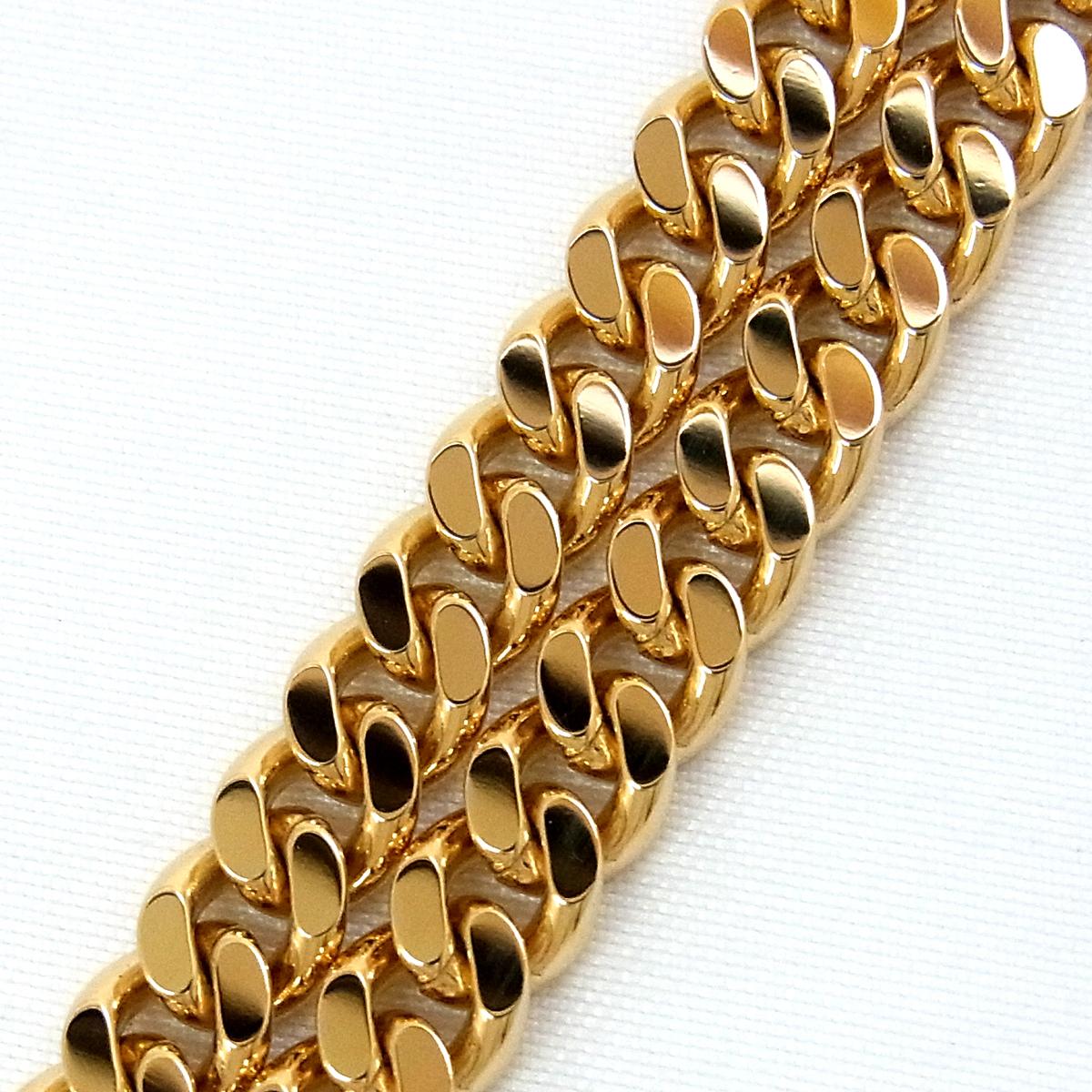 展示品 K18 喜平 2面 シングル ブレスレット 20.2g 長さ:18cm 幅:5.3mm イエロー ゴールド 造幣局刻印 ∞_画像2