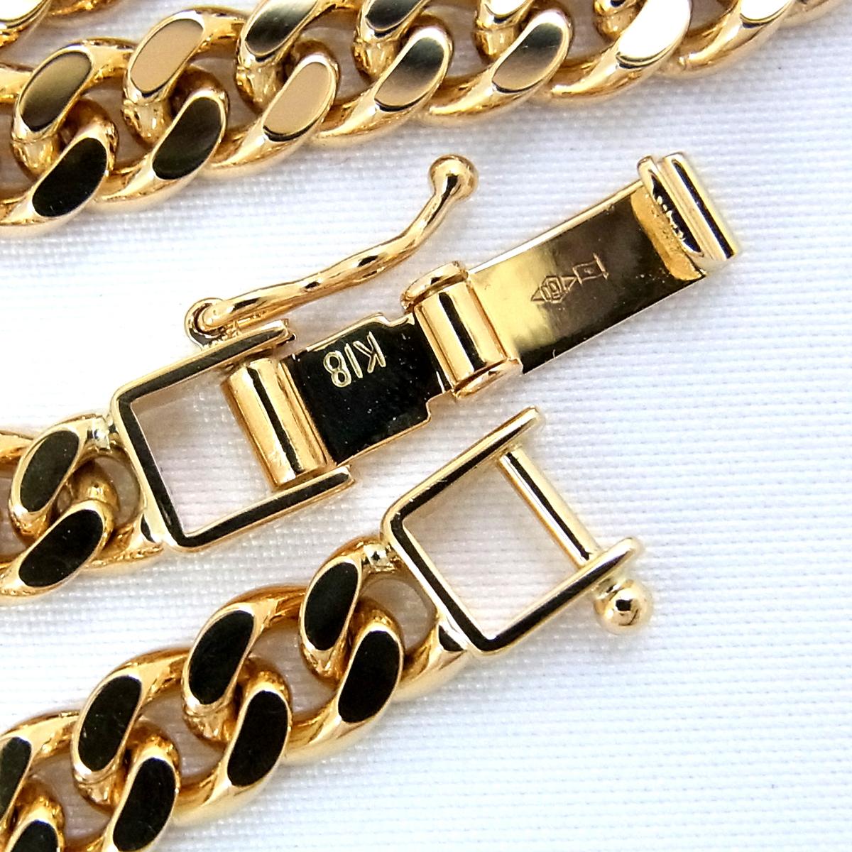 展示品 K18 喜平 2面 シングル ブレスレット 20.2g 長さ:18cm 幅:5.3mm イエロー ゴールド 造幣局刻印 ∞_画像4