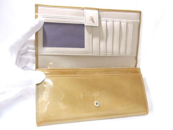 ブルガリ 33761 エナメル アンティークゴールド 長財布 未使用 ● $_画像4