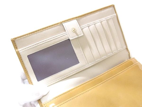 ブルガリ 33761 エナメル アンティークゴールド 長財布 未使用 ● $_画像5