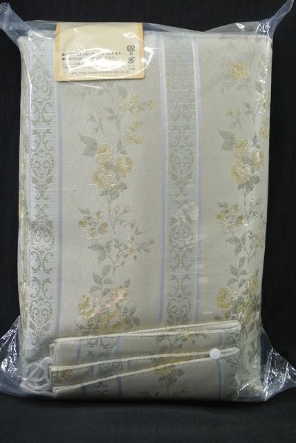 ◆即決◆ 新品 アウトレット品 ユニベール 厚地カーテン ガルボ YE 100×135cm 2枚入 形状記憶 洗濯可能 フック付 イエロー 植物柄_画像5