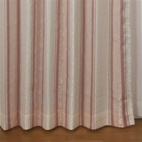 ◆即決◆ 新品 アウトレット品 ユニベール 厚地カーテン アングル RO 100×178cm 2枚入 形状記憶 洗濯可能 フック付 ローズ ピンク 植物柄_画像7