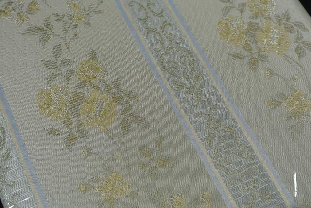 ◆即決◆ 新品 アウトレット品 ユニベール 厚地カーテン ガルボ YE 100×135cm 2枚入 形状記憶 洗濯可能 フック付 イエロー 植物柄_画像3