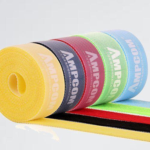 未使用 新品 結束バンドマジックバンド AMPCOM N-X4 結束テ-プ 自由にカット 線整理 ケ-ブル/コ-ド等収納 幅2cm 長さ200cm 5色_画像1