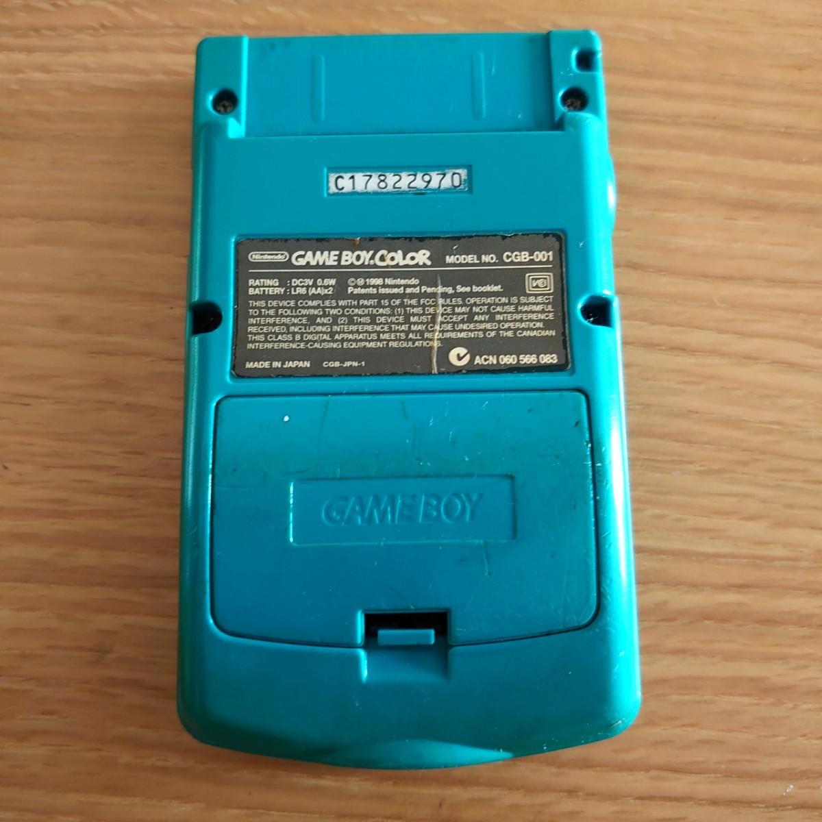 ☆ ゲームボーイカラー 本体 グリーン ジャンク ゲームボーイ アドバンス GBC GB GBA PSP PSVITA ★