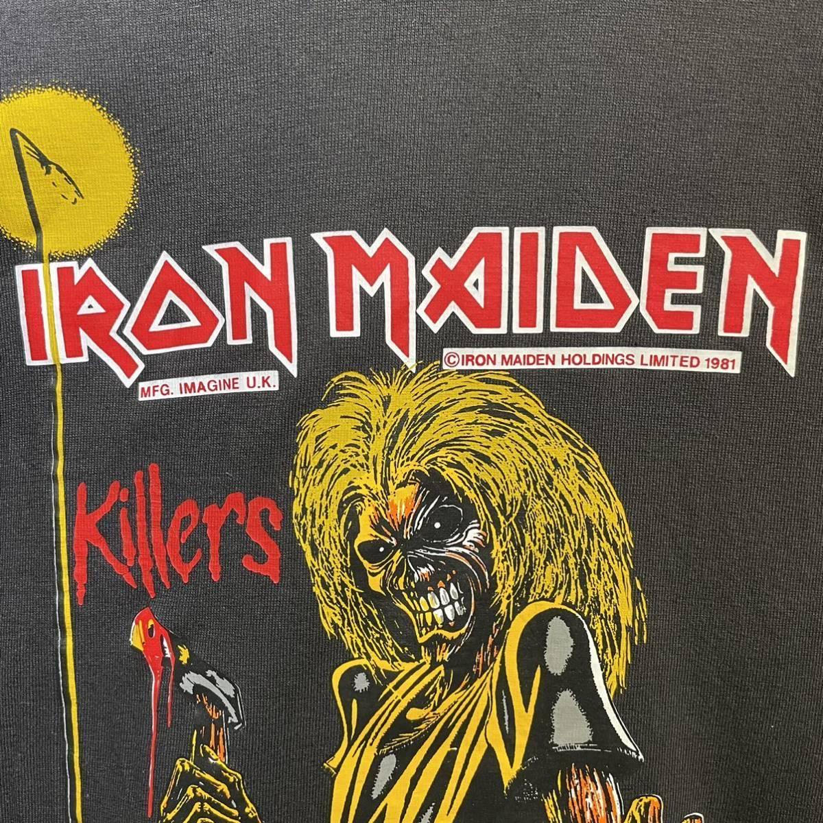 【希少】'00 IRON MAIDEN バンド Tシャツ Australia製 L ヴィンテージ / Metallica Guns N' Roses AC/DC Led Zeppelin Nirvana 80s 90s_画像3