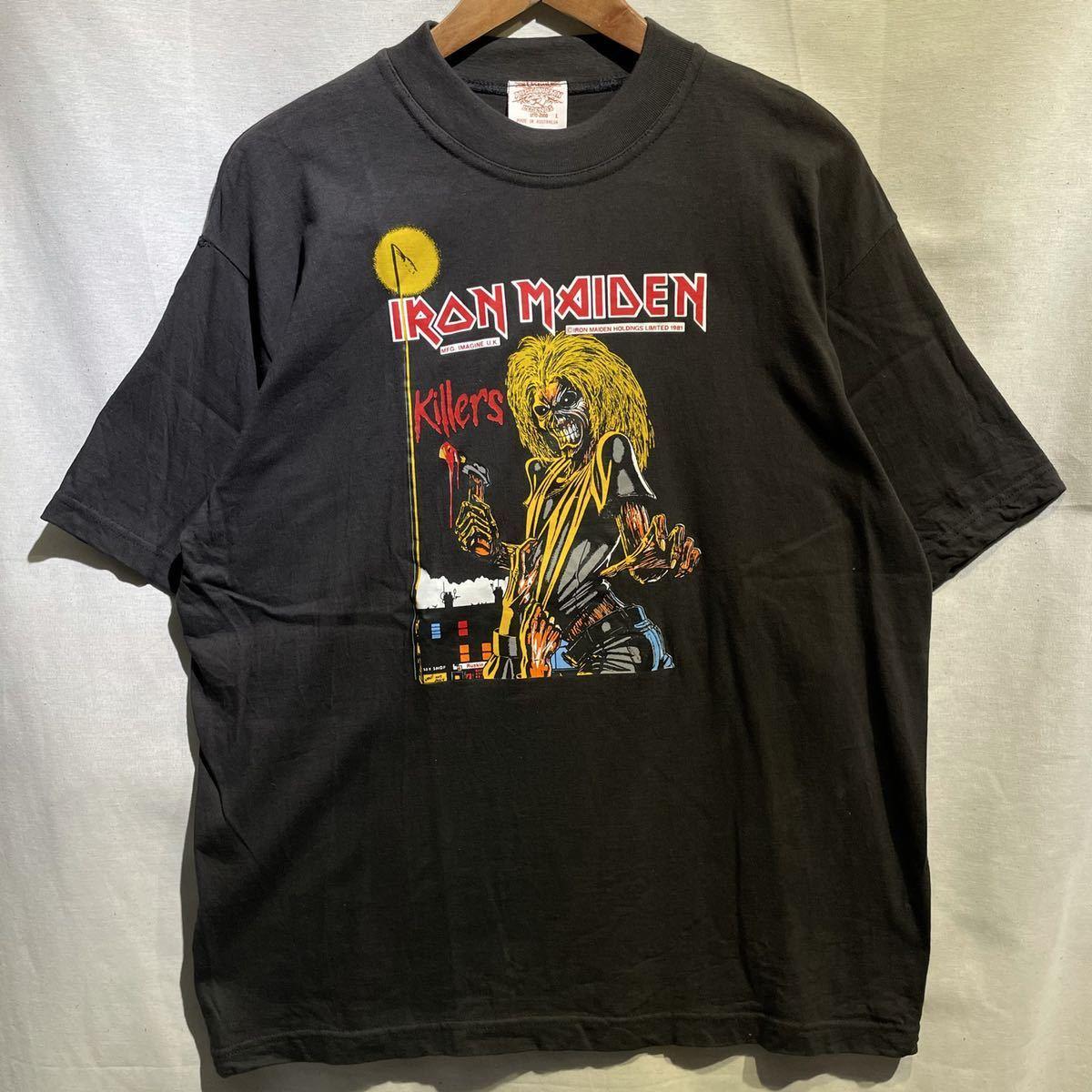 【希少】'00 IRON MAIDEN バンド Tシャツ Australia製 L ヴィンテージ / Metallica Guns N' Roses AC/DC Led Zeppelin Nirvana 80s 90s_画像2