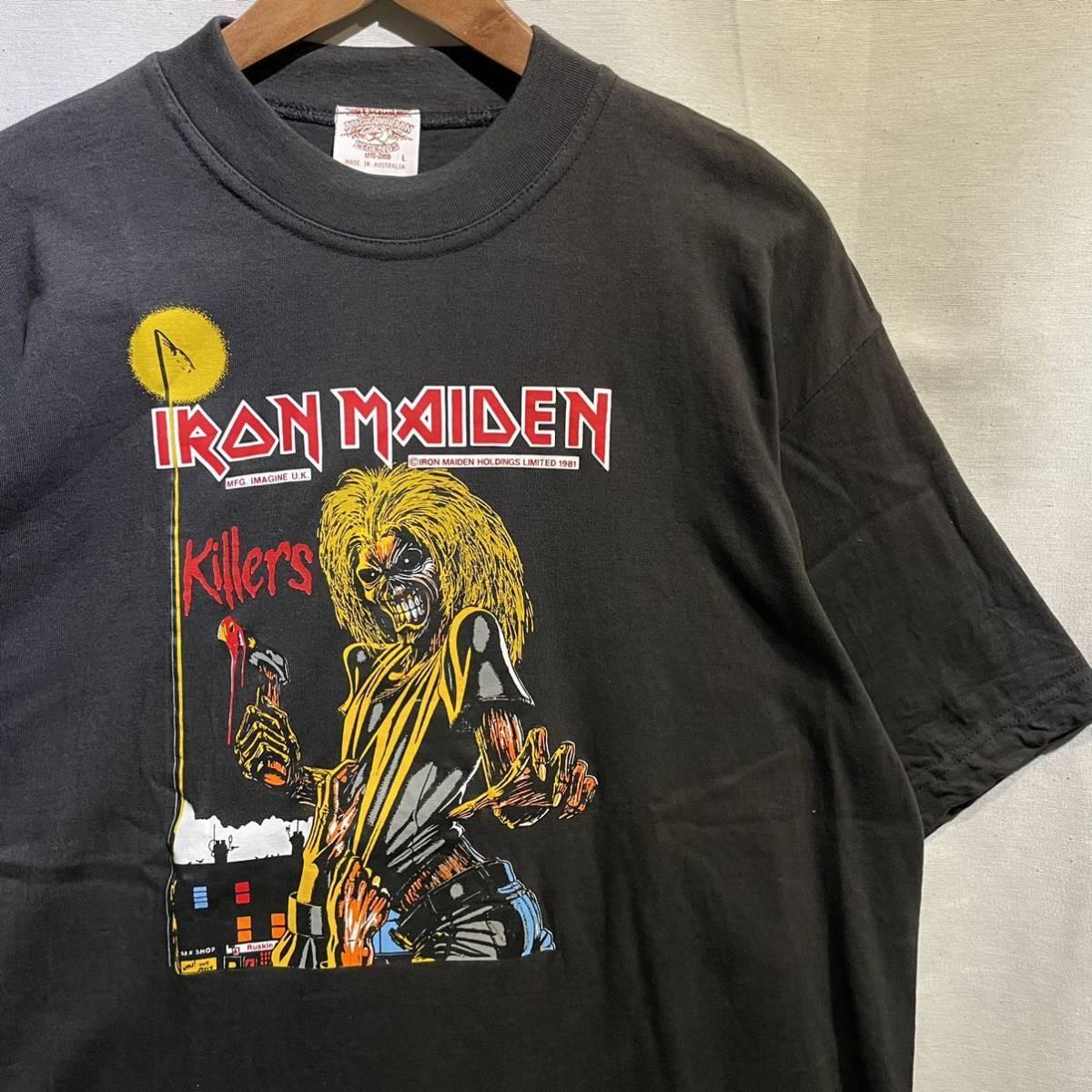 【希少】'00 IRON MAIDEN バンド Tシャツ Australia製 L ヴィンテージ / Metallica Guns N' Roses AC/DC Led Zeppelin Nirvana 80s 90s_画像1