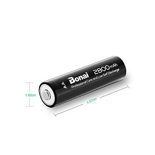 【新品★即配対応】 : 8個パック 単3 充電池 BONAI 単3形 充電池 充電式ニッケル水素電池 8個パック(超大容量280_画像6