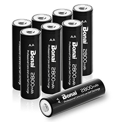 【新品★即配対応】 : 8個パック 単3 充電池 BONAI 単3形 充電池 充電式ニッケル水素電池 8個パック(超大容量280_画像1