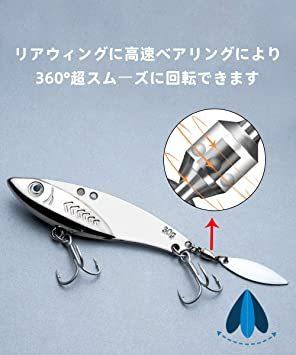 20g*5個 LDT ルアー アイアンマービー バイブレーション メタルジグ セット 遠投 必殺ヒラメ 海釣り シーバス 太刀魚_画像5