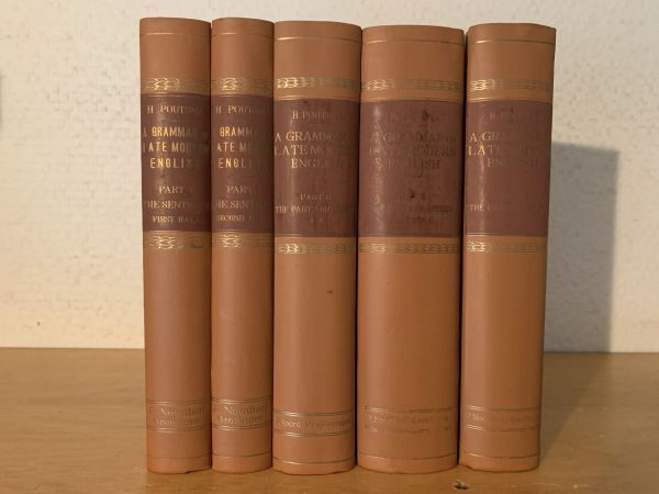 H. Poutsma, A Grammar of Late Modern English. 2nd ed. 5 Vols. 英文洋書古書