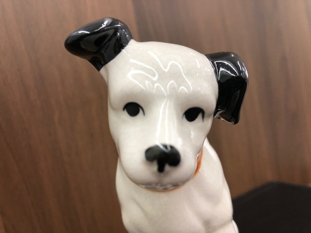 ★Victor ビクター★ Nipper ニッパー 犬 陶器 レトロ 置物 アンティーク インテリア 高さ約14cm ◇4156_画像8