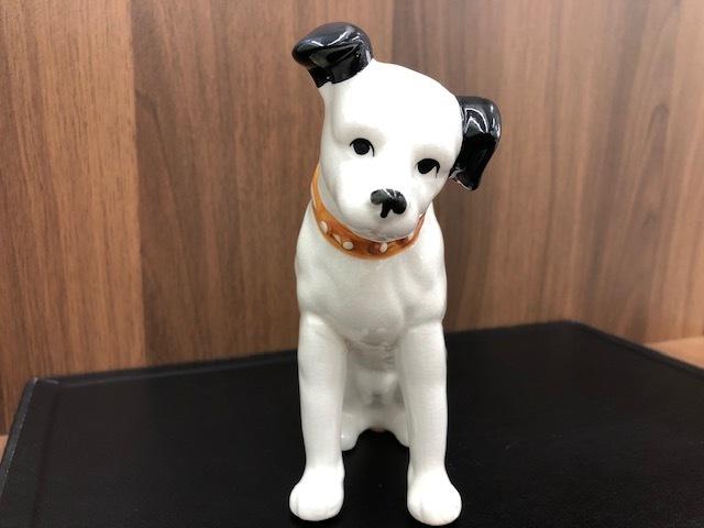 ★Victor ビクター★ Nipper ニッパー 犬 陶器 レトロ 置物 アンティーク インテリア 高さ約14cm ◇4156_画像1