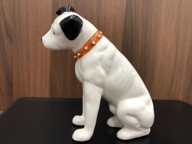 ★Victor ビクター★ Nipper ニッパー 犬 陶器 レトロ 置物 アンティーク インテリア 高さ約14cm ◇4156_画像2