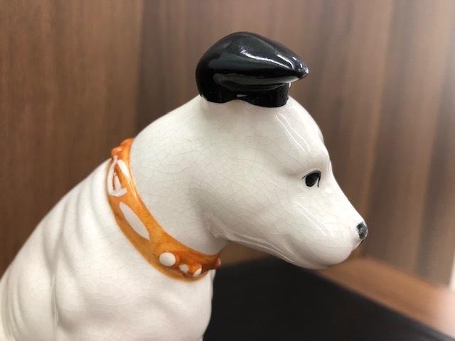 ★Victor ビクター★ Nipper ニッパー 犬 陶器 レトロ 置物 アンティーク インテリア 高さ約14cm ◇4156_画像6