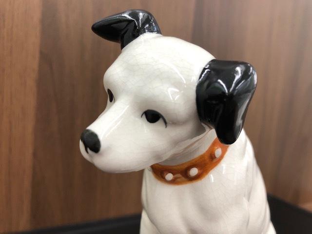 ★Victor ビクター★ Nipper ニッパー 犬 陶器 レトロ 置物 アンティーク インテリア 高さ約14cm ◇4156_画像7
